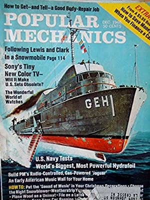 Popular Mechanics December 1968 - Weather Stripping Your House - Music Wall