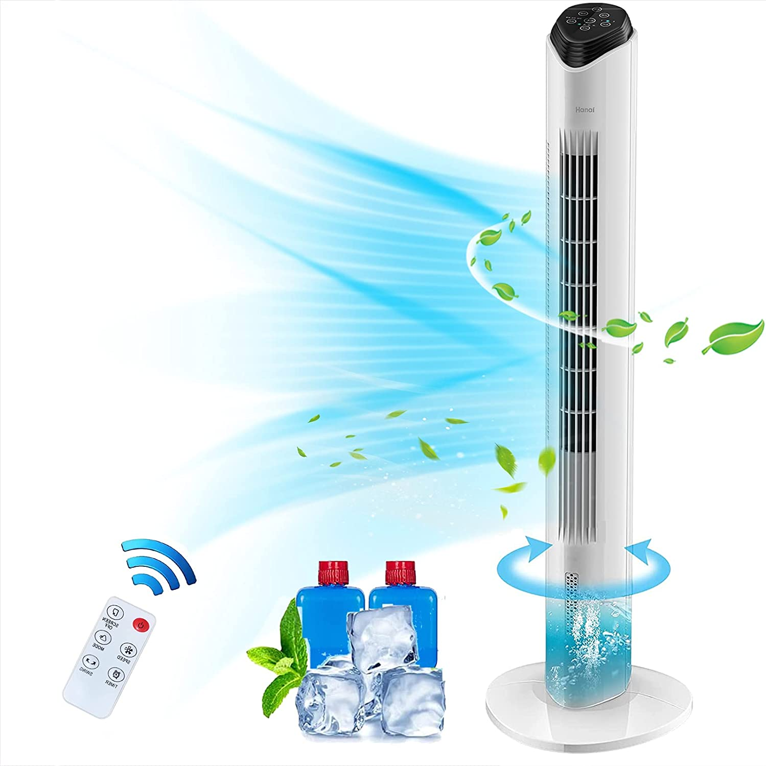 Evaporative Air Cooler 売却 2 in 1 with 4 セール Remote Fan Tower