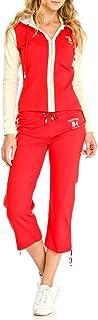 VERTIGO PARIS Women's Colorblocked Cotton Capri Jogging Suit