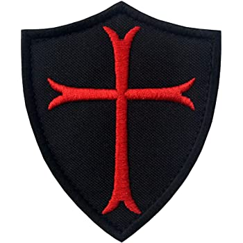 KNIGHTS TEMPLAR ARMOR iron-on PATCH embroidered CRUSADES RELIGIOUS MILITARY