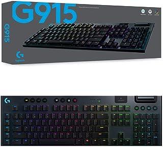 Logitech 920-009228 G915 Lightspeed Wireless RGB Mechanical Gaming Keyboard - GL Clicky