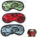 1 Silk Soft Eye Sleeping Mask Travel Sleep Aid Shades Light Cover Blindfold Rest