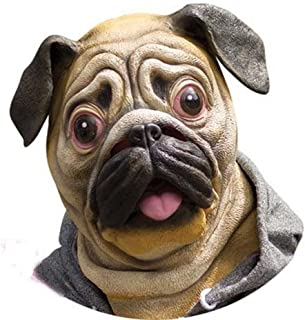 Special New Latex Full Head Overhead Animal Cute Bulldog Mask for Mask Festival、halloween、easter or Dance Party