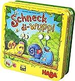 HABA 304026 - Schneck-di-wupp!, lustiges Lauf- und Würfelspiel mit magnetischen Schnecken aus Holz, für 2-4 Spieler von 5-99 Jahren
