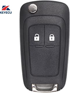Keyecu Replacement Remote Car Key Shell Case Fob 2 Button for Opel Vauxhall Insignia, Astra