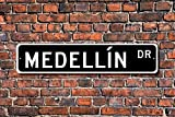 Metall Stree Medellin Schild Geschenk Medellin Besucher