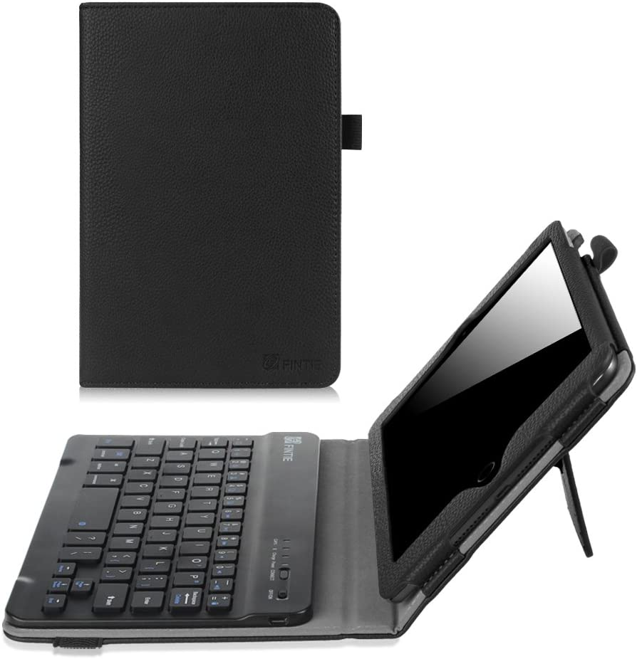 Fintie Keyboard Case for iPad Mini 1/2/3 - Premium PU Leather Folio Stand Cover with Removable Wireless Bluetooth Keyboard for iPad Mini 1 / iPad Mini 2 / iPad Mini 3, Black