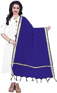 Indian Dresses Store Alexa Fashion Cotton Jacquard Women's Dupatta Blue