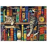 Muralpuzzle Juguete del Rompecabezas, Estantería De Madera del Rompecabezas De 500 Piezas para El Juego De La Decoración del Hogar del Gato DIY