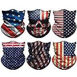 Venswell Neck Gaiter Mask for Men Women, Seamless Bandana Rave Face Cover Mask, Magic Face Scarf, Balaclava,Headband, Head Wrap-Motorcycle Cycling Festival Outdoors