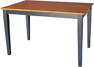 International Concepts Solid Wood Dining Table with Shaker Legs, 48 by 30 by 30-Inch, Black/Cherry