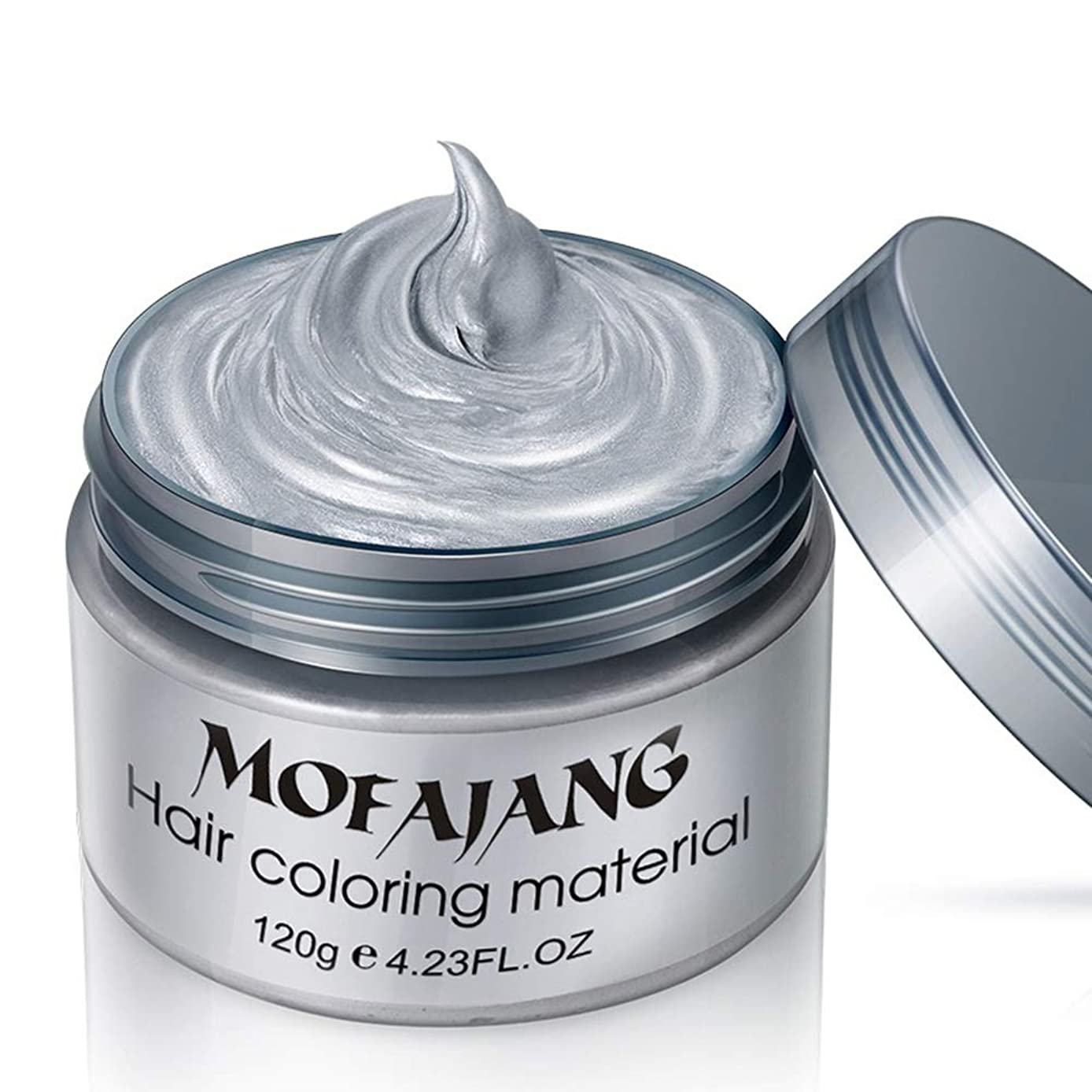 トラフィック先行する観光シルバーグレーの髪のワックス、豪華な着色泥の髪の染め、洗えるトリートメントの非グリースマットの髪型。