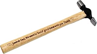 Customized Personalized Engraved Wood Handle Steel Hammer Gift for Father or Husband (Hammer)