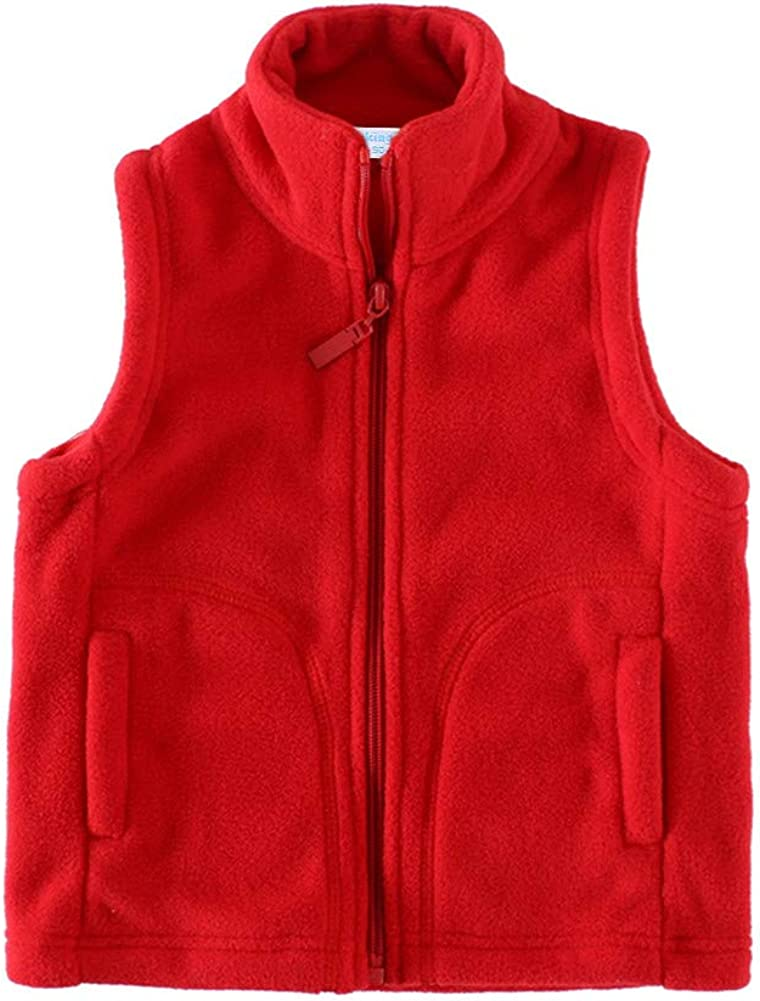 LittleSpring Kids Fleece Seattle Mall Vest Warm Full-Zip Ranking TOP16 Sleeveless Jacket