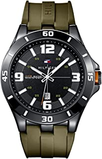 Tommy Hilfiger Drew For Men Black Dial Silicone Band Watch - 1791065