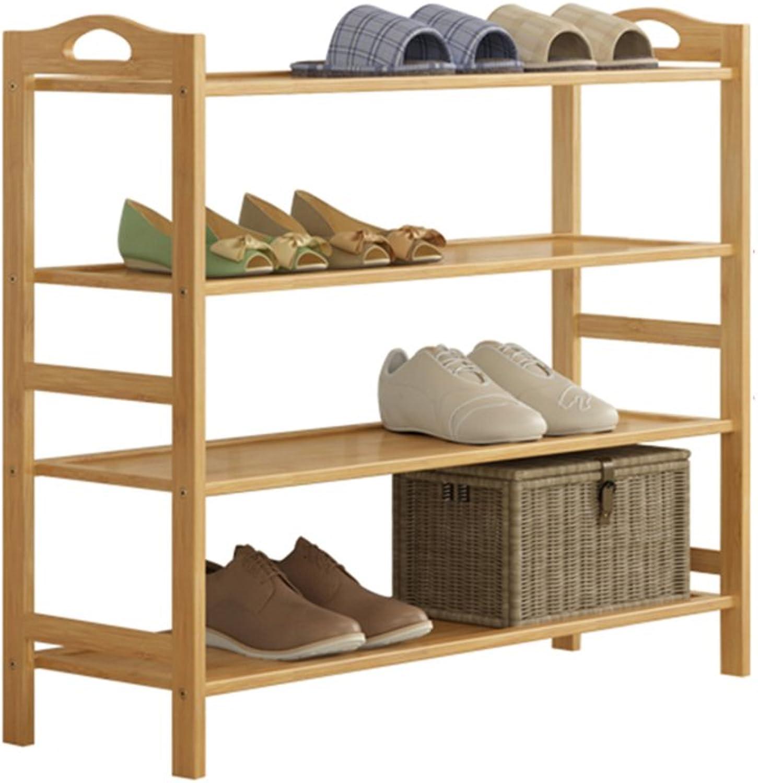 ZHIRONG Bamboo shoes Rack Multifunction 4th Floor Household Storage Rack Shelves Floor-Standing Organizer Bookshelf Plant Stand 60  26  70CM   70  26  70CM   80  26  70CM   90  26  70CM