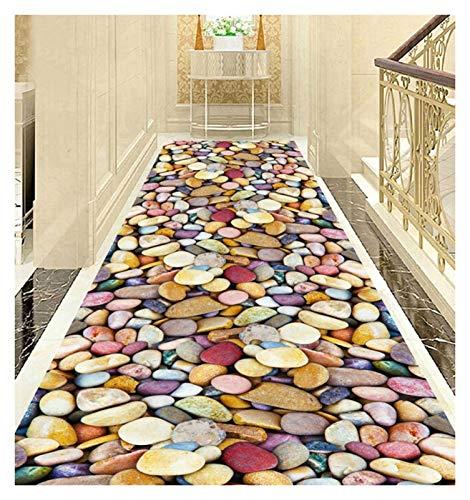 ditan XIAWU Einfacher Wohnzimmerteppich Schlafzimmer rutschfest Gang Bett Kann Geschnitten Werden (Color : A, Size : 90x720cm)