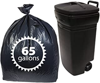 Dualplex 65 Gallon Black Trash Bags 1.5 Mil Garbage Bag 50 Bags Per Case 50