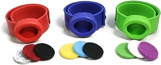 Destination Oils Kids Essential Oil Diffuser 3 Slap Bracelet Sport Set - Red, Blue, Green- Boys- Safe for Children