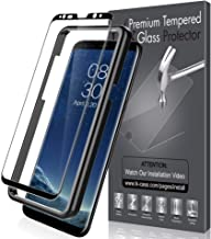 LK Screen Protector for Samsung Galaxy S8 Plus, Tempered Glass [Case Friendly][Alignment Frame Easy Installation][3D Curved][Full Coverage] with Lifetime Replacement Warranty