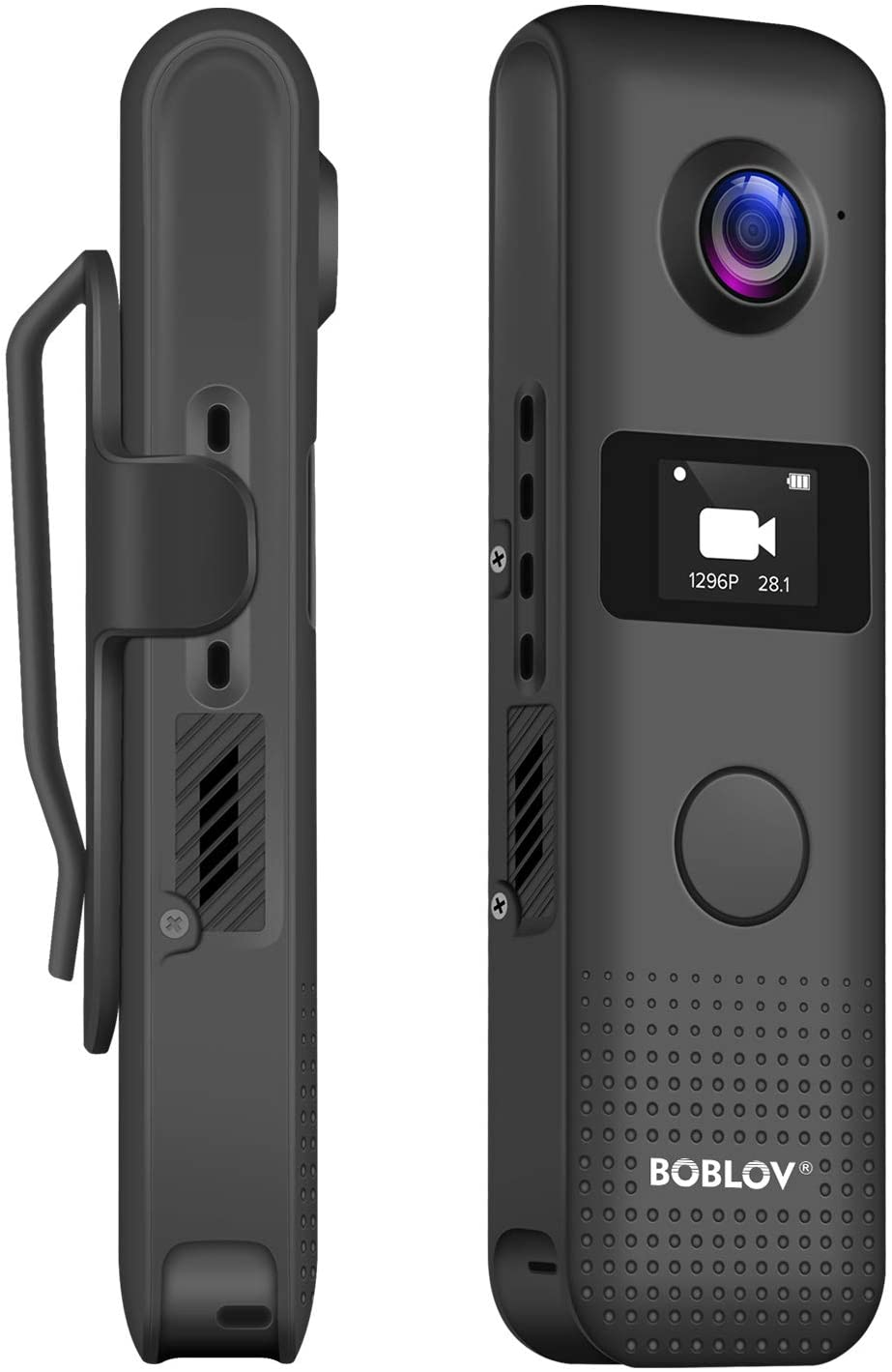 BOBLOV C18 WiFi 1080P Body Camera with OLED Screen and One Big Button for Recording 4Hours 1080P Recording Clip for Wearable (32GB)