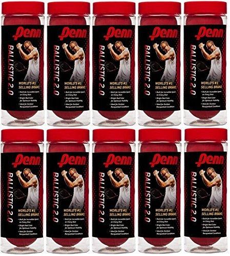 Penn Racquetballs 3Pack Ballistic, Ten cans, Rojo