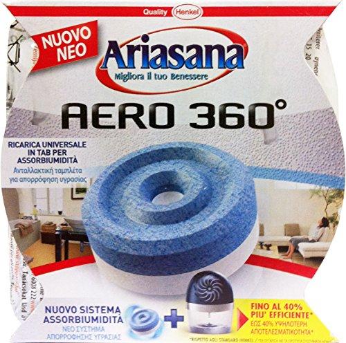 12 x ARIASANA Assorbiumidità Aero 360° Ricarica Inodore 450 Gr.