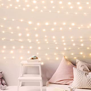 USB Fairy String Lights with Power Adapter, 66Ft 200 LED Firefly Lights for Bedroom Wall Ceiling Christmas Tree Wreath Craft Wedding Party Decoration, Warm White