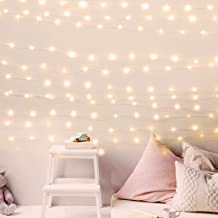 USB Fairy String Lights with Power Adaptor, 66Ft 200 LED Firefly Lights for Bedroom Wall..
