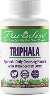 Paradise Triphala - Organic Ayurvedic Daily Cleansing and Nourishing Formula - Concentrated Extract - 100% Naturally Extra...