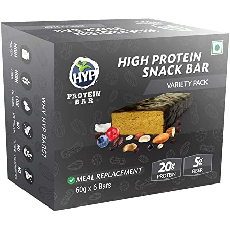 HYP Protein Bar - Meal Replacement (2Almond + 2Peanut + 2Cookies and Cream)