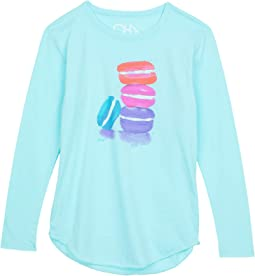 Recycled Vintage Jersey Long Sleeve Shirttail Tee (Little Kids/Big Kids)