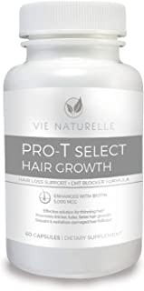 DHT Blocker Hair Loss Supplements - Hair Growth Vitamins for Men and Women with 5000mcg Biotin - 60 Pills for Hair Skin and Nails