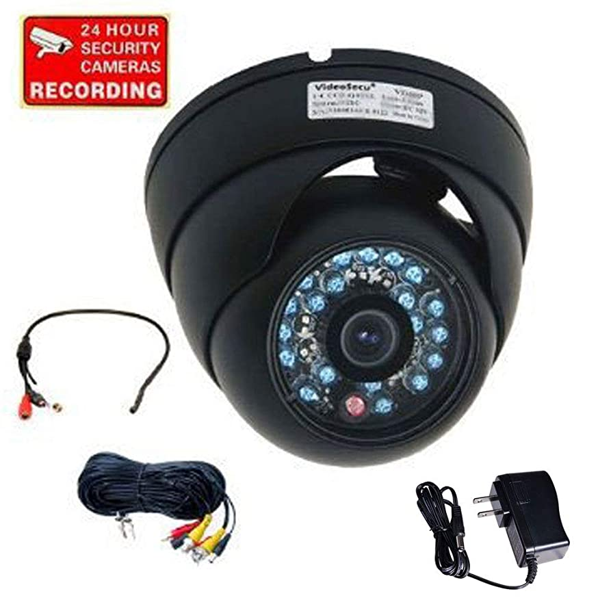 VideoSecu Day Night Vision IR Outdoor Dome Security Camera Vandal Proof 1/3