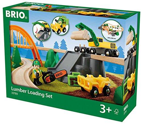 BRIO World 33789 - Bahn Waldarbeiter Set, bunt