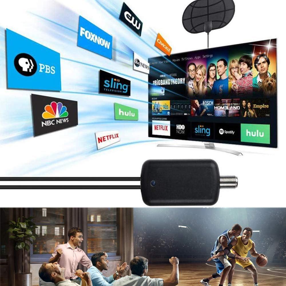 Up to 100 Miles Range Amplified HD Digital TV Antenna Indoor Smart ...