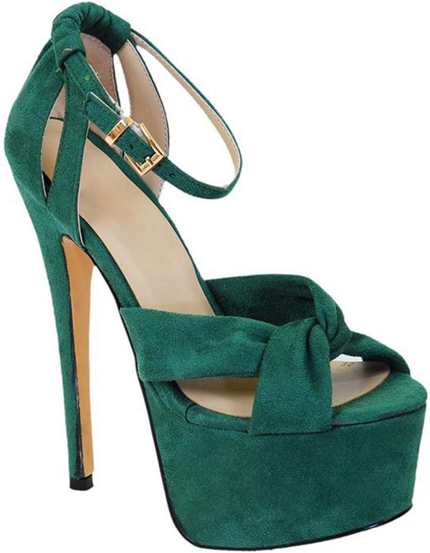 Cross Belt Platform Heeled Sandals Roman shoes Sexy Stiletto shoes Heeled Sandals Open Toe Sandals Women's shoes (Heel Height  12-13cm)