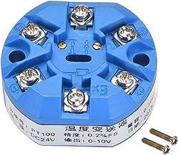uxcell® PT100 Temperature Sensor Transmitter 24V DC 0-10V 0℃ to 100℃