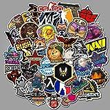 NOBRAND 100 Unids/Set De Dibujos Animados Lindo Doodle Pegatinas Skateboard PVC Impermeable Papel Pintado Maleta Laptop Guitarra Coche (5-6cm)