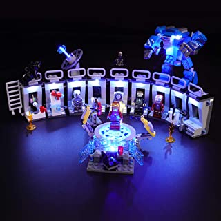 BRIKSMAX Led Lighting Kit for Iron Man - Compatible with Lego 76125 Building Blocks Model- Not Include The Lego Set