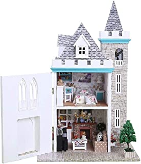 XYZMDJ dockhus miniatyr gör-det-själv hus kit kreativt rum med möbler för romantisk konstverk gåva