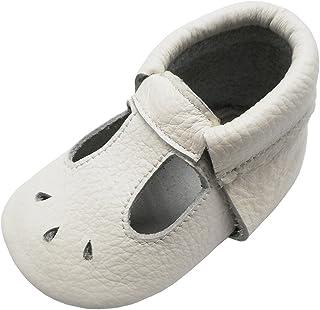 503df7ba45778 Mejale Baby Summer Shoes Soft Soled Leather Moccasins Infant Walker Sandals  White