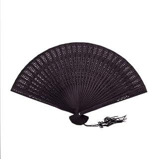 Sonnenscheinschuhe Schwarzer Fächer Handfächer 20cm Sandelholz Fächer Holz Flamenco schwarz