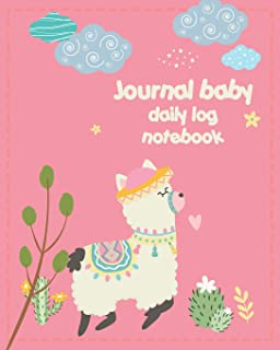 Journal Baby Daily Log Notebook: Cute Alpaca for Newborns Breastfeeding Sleeping and Baby Health