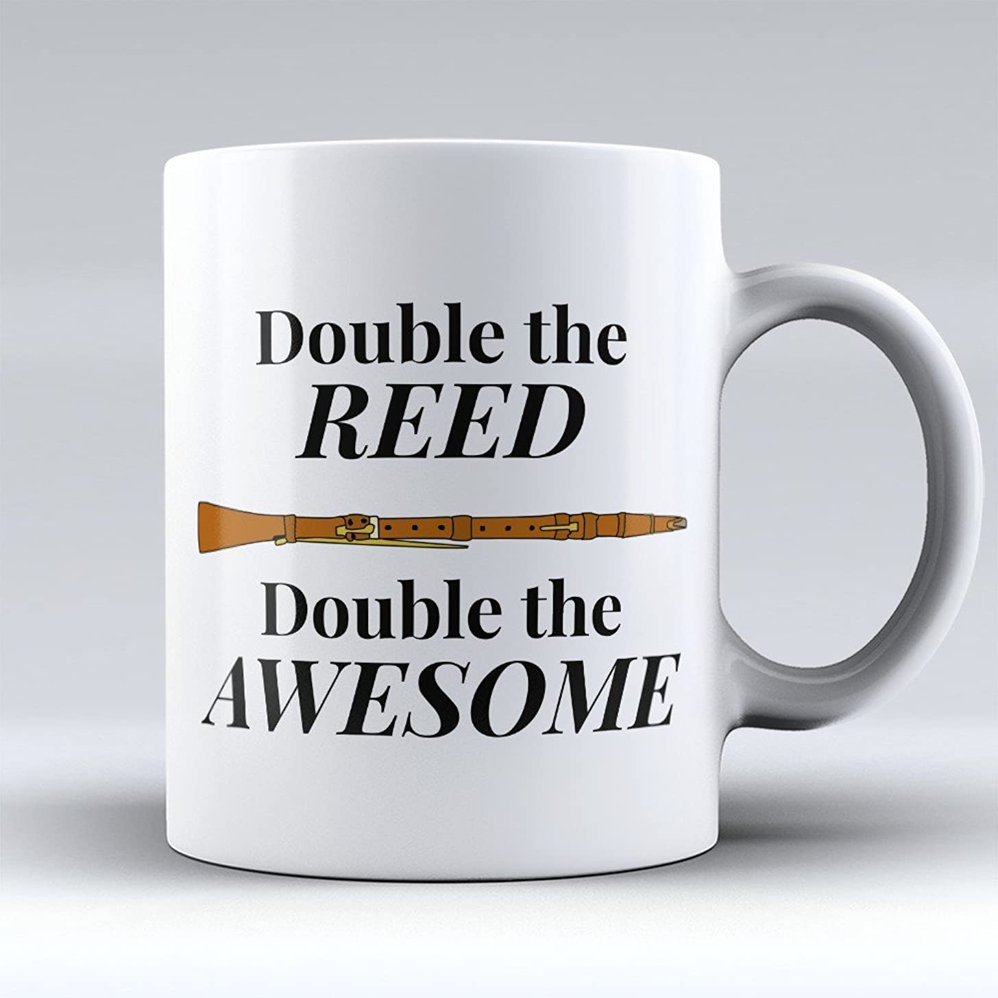 Oboe Coffee Mug - Oboe Coffee Cup - Funny Gift for Oboe Players -Double The Reed - Best Present for Oboe Players - 11oz