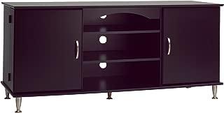 Premier Large Black Flat Panel Plasma / LCD TV Console with Media Storage
