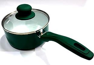 Ceramic casserole pot 16 cm with pyrex lid