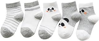 Black Temptation, 5 pares unisex del bebé Calcetines, 1-3 años de edad del bebé del algodón Calcetines