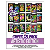Super Pack of 18 Fuzzy Velvet Coloring...