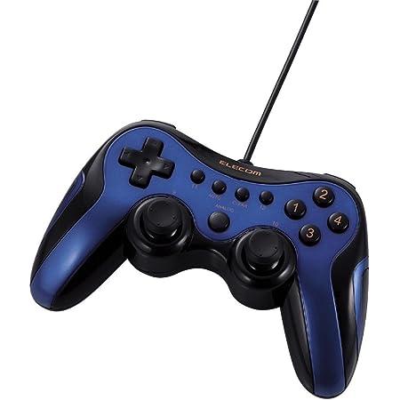 【2009年モデル】ELECOM ゲームパッド USB接続 アナログスティック搭載 振動/連射 12ボタンブルー JC-U2912FBU